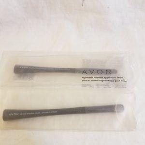 Avon Make Up Brushes PAIR Eye Shadow